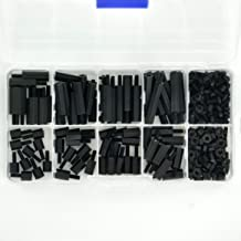 Electronics-Salon M2.5 Black Nylon Hex M-F Spacer/Screw/Nut Assorted Kit, for Raspberry-Pi, Standoff.