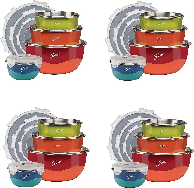 2021 model Fiesta Mixing 8-Piece Attention brand Microwave Safe Lid Fоur Bowl ÐÐ°Ñ Set