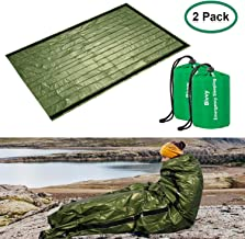 ACVCY Emergency Sleeping Bag, 2PCS Lightweight Emergency Bivy Sack Survival Compact Survival Sleeping Bag Waterproof Thermal Emergency Blanket Multi-use Survival Gear for Outdoor, Hiking, Camping