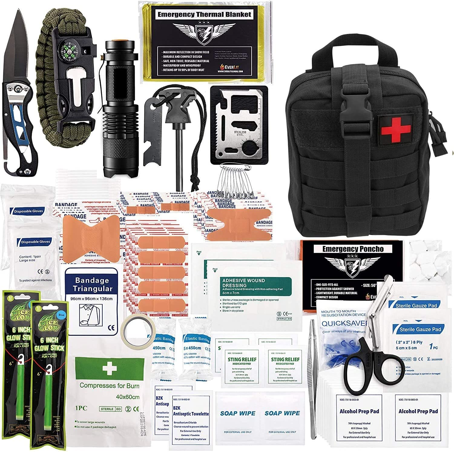 ASA Techmed 250 Pieces Survival OFFicial First Molle Kit Manufacturer direct delivery IFAK Aid System