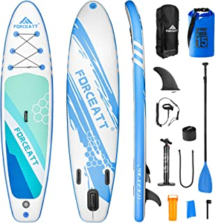 """Forceatt Inflatable Stand Up Paddle Boards, 10'2"""" and 11' Paddle Boards, SUP Boards for All Skill Levels Include Beginner,..."""