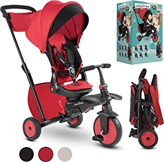 smarTrike STR7J 7-in-1 Folding Baby Tricycle, Red (5502202)