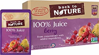 Back to Nature 100% Juice, Non-GMO Berry, 6 Ounce, 8 Count (Pack of 5)