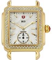 Michele - Deco 16 Diamond Gold Watch Head