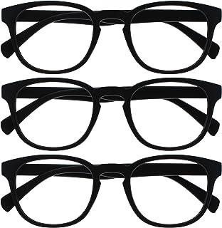 Opulize Pop 3 Stuks Zwart Afstand Bril Kortzichtig Bijziendheid Retro Ronde Mannen Vrouwen Scharnieren Met Veer MMM2-1 -1,00