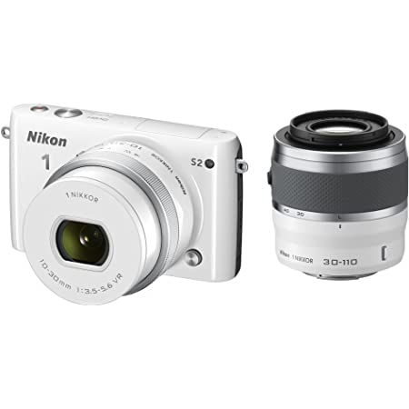 Nikon ミラーレス一眼 Nikon1 S2 ダブルズームキット ホワイト S2WZWH