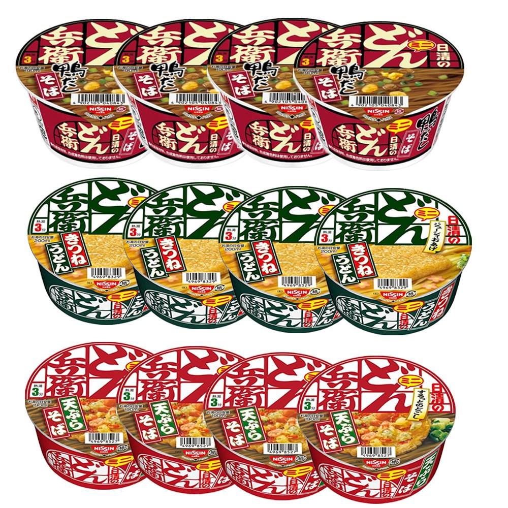 Donbei Mini 1.5oz 12pcs Set Various Soba Taste Luxury Japa Jacksonville Mall Udon Nissinn