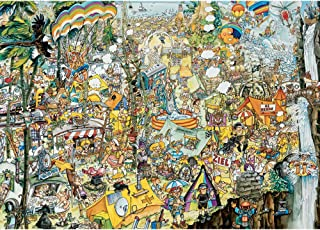 Bits and Pieces - 3000 Piece Jigsaw Puzzle for Adults - Crazy BBQ - 3000 pc Festival Scene Jigsaw by Artist Gerold Como