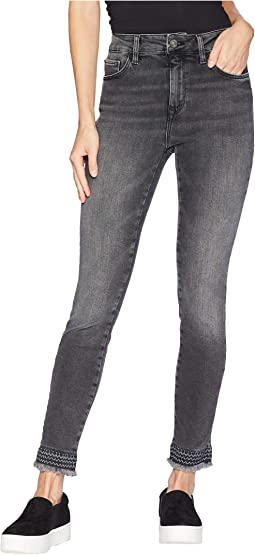Tess High-Rise Super Skinny in Smoke Embroidery