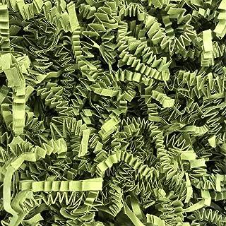 Black Cat Avenue 1/2 LB Green Tea Crinkle Cut Paper Shred Filler for Gift Wrap and Basket Filler
