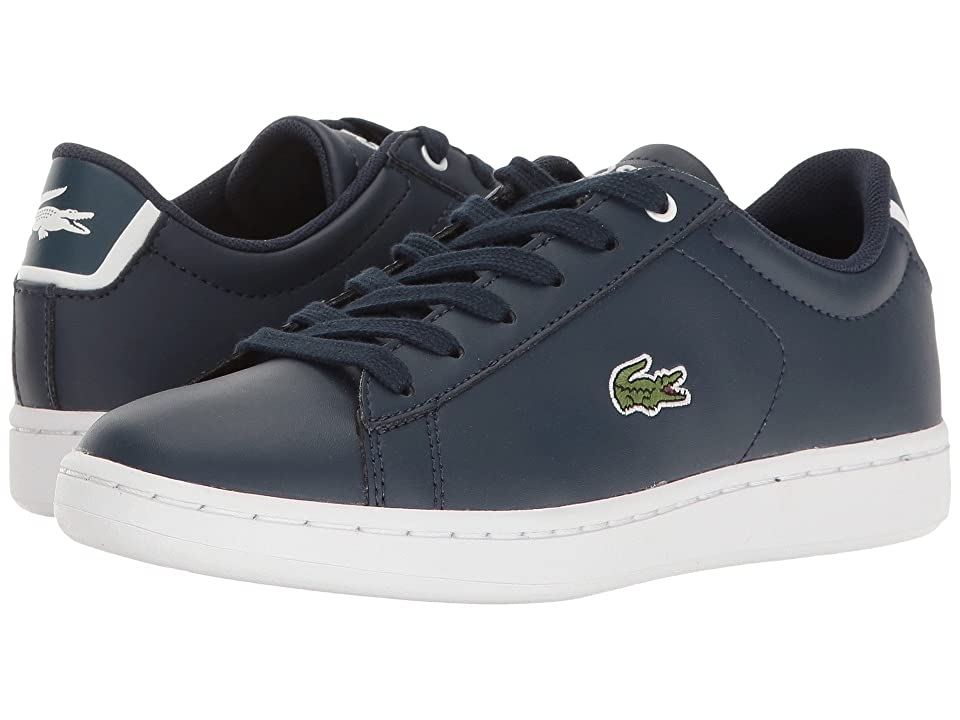 Lacoste Kids Carnaby Evo (Little Kid/Big Kid) (Navy/Navy) Kids Shoes