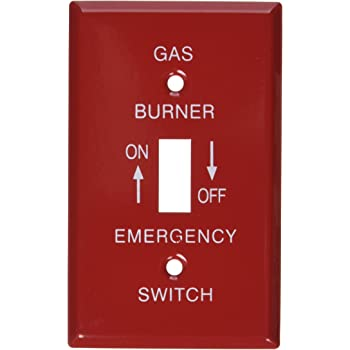 4 Inch Square Emergency /¡/°On//Off/¡/± Two Toggle Switch Cover For Gas Powered Applications-5 per case