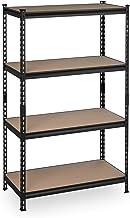 Relaxdays Rekken voor zware lasten, HBT: 153x91x46 cm, draagvermogen 1440 kg, kelderrek om in te steken, 4 niveaus, staal...