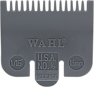 """Wahl Professional Color Coded Comb Attachment #3137-101 – Grey #1/2 – 1/16"""" (1.5mm) – Great for Professional Stylists and Barbers"""