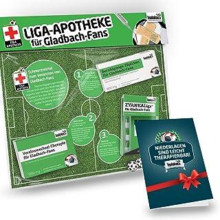 Geschenk-Set: Die Liga-Apotheke für Gladbach-Fans   3X süße Schmerzmittel für Gladbach Fans   Die besten Fanartikel der Liga, Besser als Trikot, Home Away, Fan-Schal