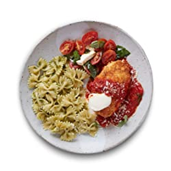 Amazon Meal Kits, Chicken Parmigiana with Pesto Farfalle & Caprese Salad, Serves 2