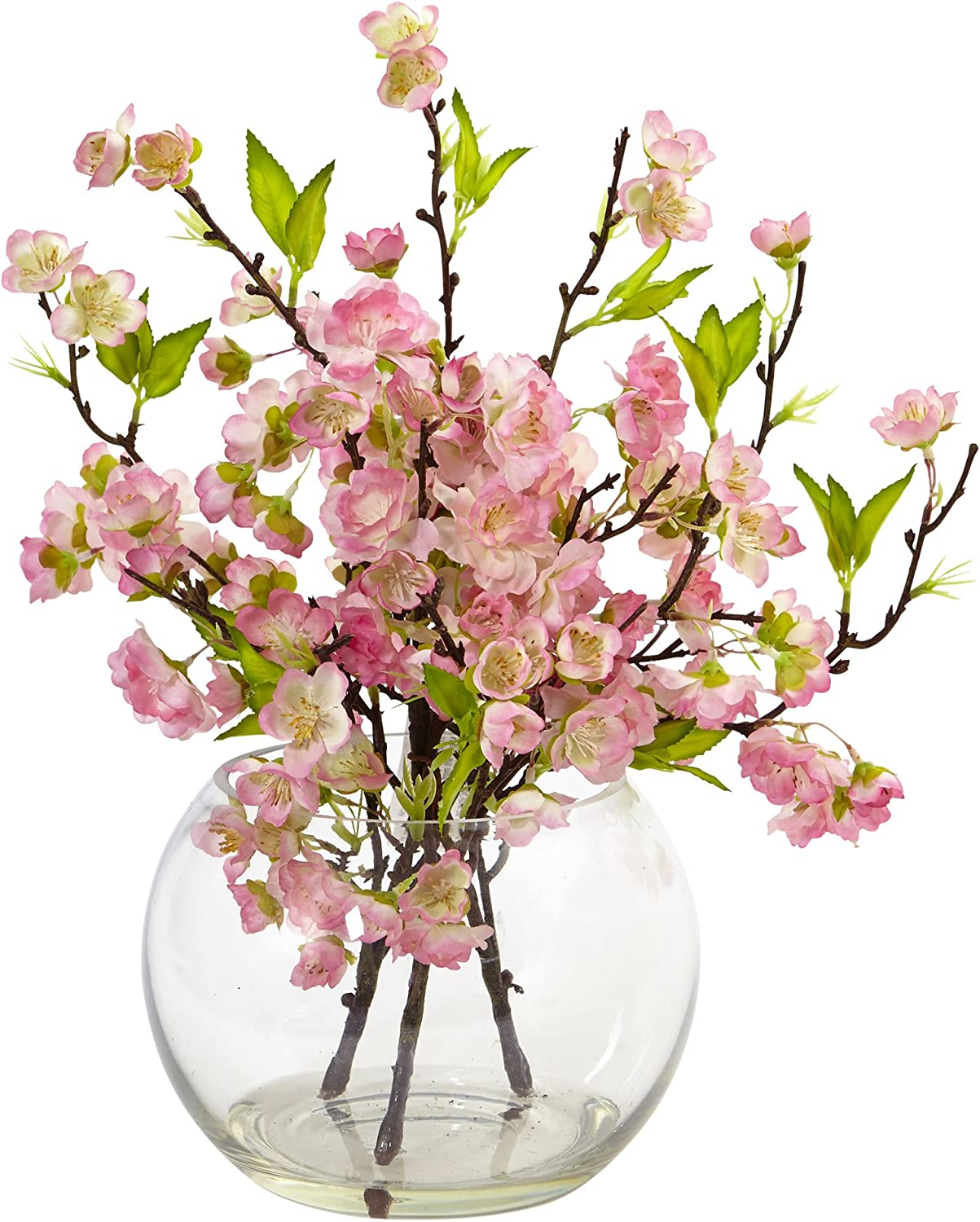 Nearly Natural 4572 Cherry Blossom in Over item handling Large Vase 14
