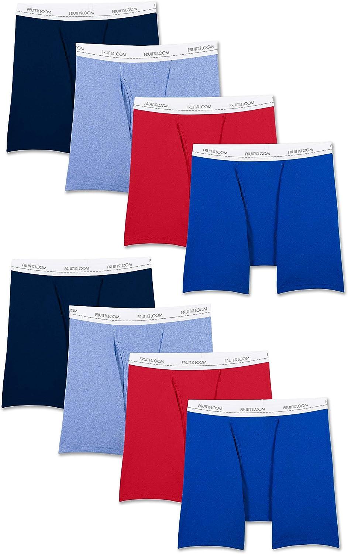 Fruit of the Loom Men's Lightweight Active Cotton Blend Underwear & Undershirts
