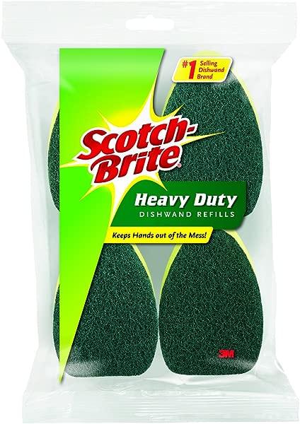 Scotch Brite Heavy Duty Dishwand Refill 4 Refills