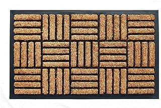 Coco & Coir Heavy Duty | Thick Coir | Natural | Non-Slip Backing Tuffscrape Outdoor Door Mat 45 x 75 cm (Short Bread)