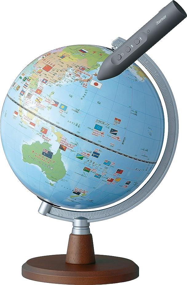 台風焦げキルトレイメイ藤井 地球儀 しゃべる国旗付 スタンダード 球径20cm OYV46