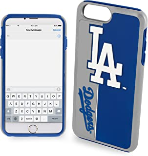 Forever Collectibles Dual Hybrid Bold Series Case for iPhone 8 Plus/7 Plus - MLB Los Angeles Dodgers
