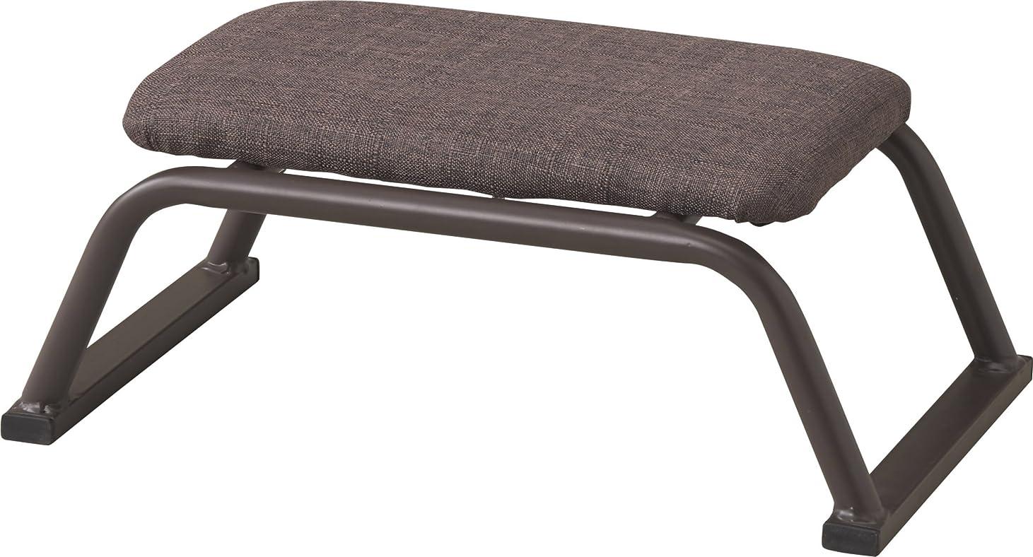 情緒的熟読兵器庫パール金属 座椅子 ブラウン (約) 幅42×奥行25×高さ17cm