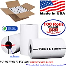 vx520 Thermal Paper 2 1/4 x 70 (100 XL Large Credit Card Thermal Paper Rolls) BPA Free - Superior Printing - BuyRegisterRolls