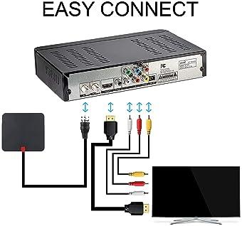 ViewTV ATSC Digital Converter Box for TV, HDMI Cable Recording PVR Function Output USB LED Timer Display AT-300