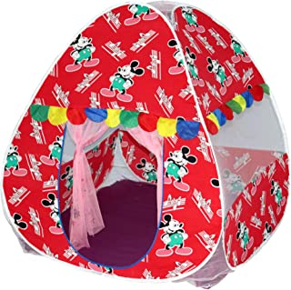 Homecute Foldable Popup Kids Play Tent House for 1 Year to 12 Years 110 x 110 x 120 cm Printed - Red