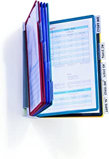 Durable 556700 Système de panneaux d'affichage (Vario Wall 10, avec 10 panneaux d'affichage A4) multicolore
