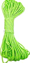 Sohapy 100 ft Reflective Tent Rope Camping Cord Paracord Reflective Nylon Cord Parachute Cord Diameter 4mm Rope for Camping Tent Outdoor Packaging (Fluorescent Green)