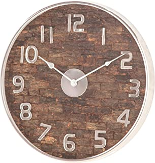 Deco 79 Wall Clocks, Medium, Brown, Silver