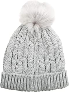 isotoner Women's Knit Cold Weather Beanie Hat with Pom Pom