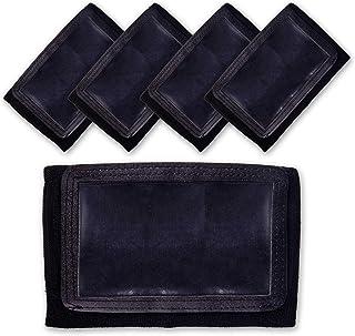GSM Brands Quarterback (QB) Play Wristband - Youth Size - Pro Football Armband Playbook - 5 Pack (Black)