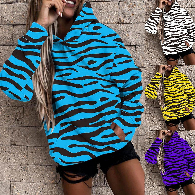 Masbird Fashion Hoodies for Women,Women's Camo Oversized Long Sleeve Sweatshirts Cute Anime Hoodies for Teen Girls