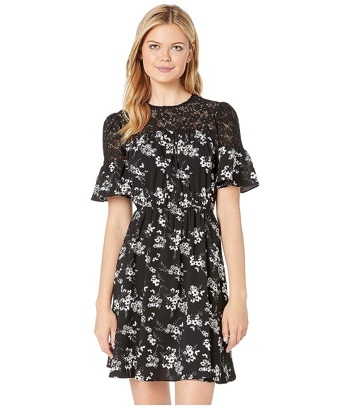 deb4070ed9d MICHAEL Michael Kors Bold Botanicalical Yoke Dress (Black/White) Women's  Dress