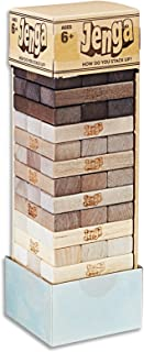 Jenga - Rustic Series Edition - Family Strategy Game - Ages 6+
