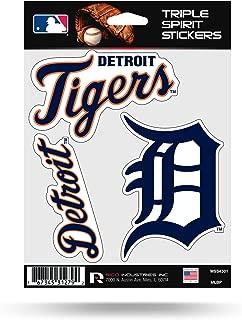 Rico Industries Detroit Tigers Triple Sticker Multi Decal Spirit Sheet Auto Home Baseball