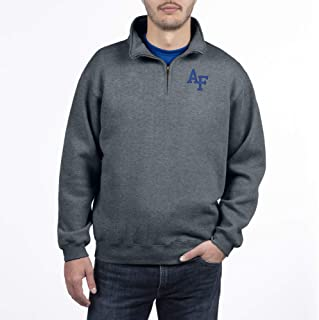 Top of the World Air Force Falcons Men's Dark Heather Classic Quarter Zip Pullover, XX-Large