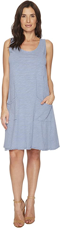 Pinstripe Drape Dress