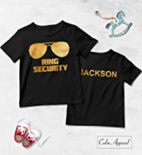 Ring Security Shirt Boys, Ring Bearer T-Shirt, Bearer Wedding Party Gift