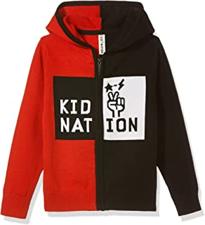 Kid Nation Boys' V-Neck Cardigans Knit Fall Sweater Button Down Anti-Pilling