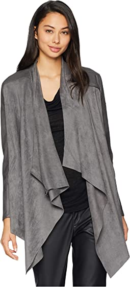 Drape Front Jacket in Stone Age
