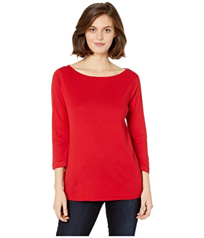 Three Dots EZ Fit Relaxed British Tee (Winter Berry) Women