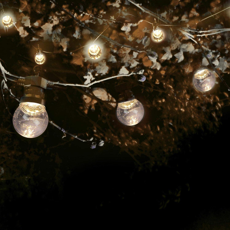 Chic D/éco pour Jardin et Patio SKYLANTERN Guirlande Guinguette 10M Blanc IP65 avec Coupelles- Guirlande Electrique Exterieur 10 Bulbes Blanc Guirlande Guinguette Exterieur Decoration Romantique