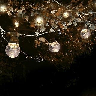 SKYLANTERN Guirlande Guinguette 50M Transparent - Guirlande Lumineuse Exterieure 50 Bulbes Transparents - Guirlande Guingu...