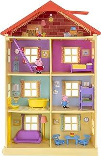 Peppa P0757 Peppa's droomhuis speelset met 2 exclusieve figuren: Peppa en Schorsch met accessoires voor kinderen vanaf 2 jaar
