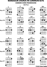Mandolin Chords In Common Keys: Common Chord Progressions - I IV V7 vi (Music Stand Chord Charts Book 4)