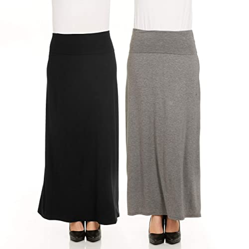 ae7a7576635 X America Foldover Long Maxi Skirt Junior and Plus Size Maxi Skirts for  Women
